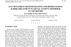 Eye Movement Desensitization And Reprocessing (emdr) Treatment In Social Anxiety Disorder: A Case Report